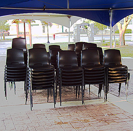 Stacked Chairs after show